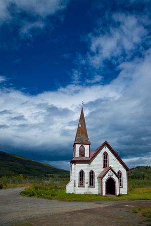 Historic St. Pauls Anglican Church, Kitwanga, British Columbia Canada Stock Photo