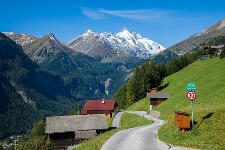 Small mountain village in the Austrian Alps