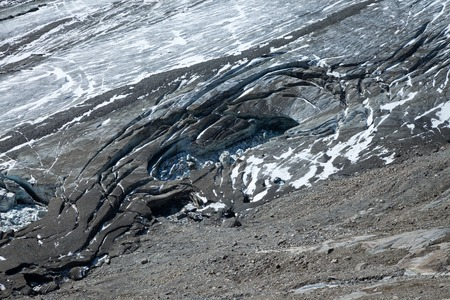 Detail of the Pasterze glacier at the foot of Grossglockner in Austria, Europe