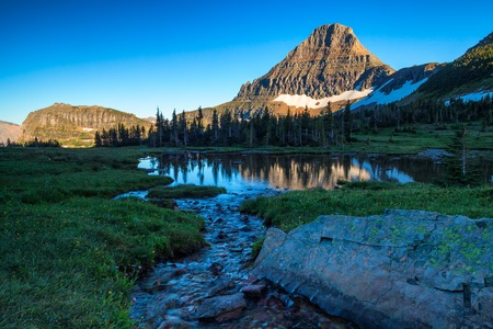 Reynolds Mountain in the Logan Pass area of Glacier National Park, Montana, USA Reklamní fotografie