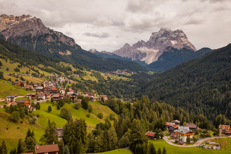 Mountain villages in the Dolomites in Northern Italy, Europe