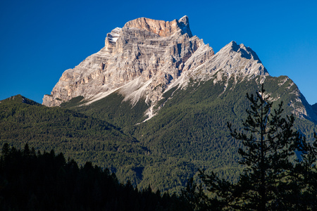 Beautiful nature in the Dolomites mountains in Northern Italy, Europe Stock Photo