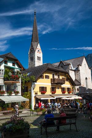 HALLSTATT, AUSTRIA - SEPTEMBER 11, 2012: The beautiful village of Hallstatt in Austria, Europe