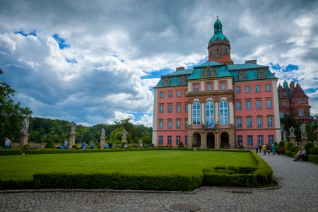 KSIAZ, POLAND - JUNE 7, 2009: The Ksiaz castle is the largest castle in the southern Silesia region of Poland