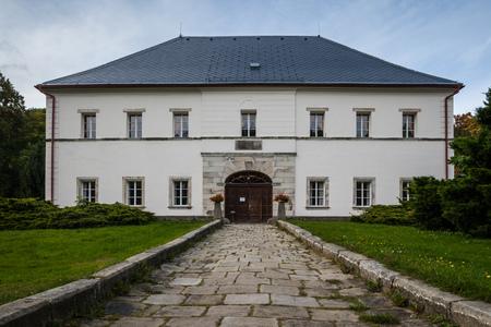 ZAMEK SKALY BISCHOFSTEIN, CZECH REPUBLIC - SEPTEMBER 24, 2012: The Chateau Skaly near Nachod in North-Eastern Czech Republic, Europe Redakční