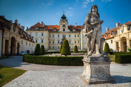 VALTICE,, CZECH REPUBLIC - SEPTEMBER 5, 2012: The beautiful Valtice Chateau in southern Moravia in the Czech Republic, Europe