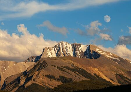 Fisher Peak, a mountain in Kananaskis in the Canadian Rocky Mountains, Alberta, Canada Stock Photo