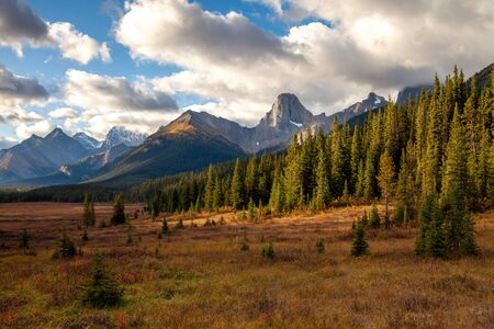 Autumnal colors in the the Canadian Rocky Mountains in Kananaskis, Alberta, Canada Banco de Imagens - 132715011