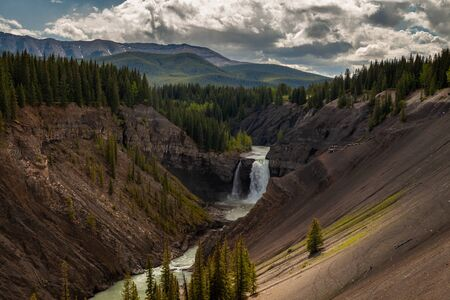 Ram Falls in the foothills of the Canadian Rocky Mountains, Alberta, Canada