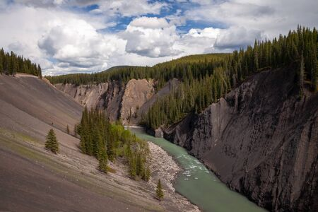 The Ram River Canyon in the foothills of the Canadian Rocky Mountains, in Alberta, Canada