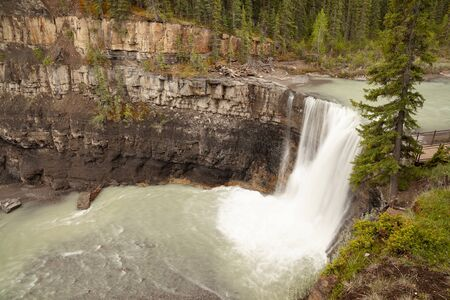 Crescent Falls in the foothills of the Canadian Rocky Mountains, Alberta, Canada