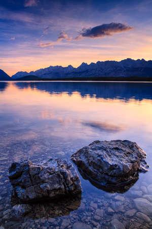 Sunrise at Lower Kananaskis Lake, Alberta, Canada