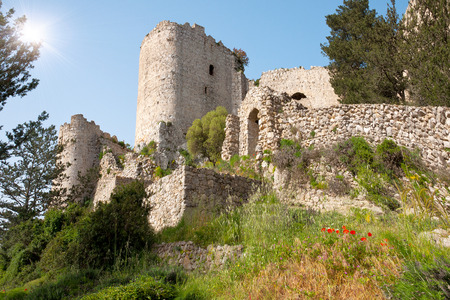 origins: Kantara castle in Northern Cyprus.The origins of the castle go back to the 10th century.