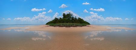 onbewoond: Beautiful uninhabited island in the Black Sea. Ukraine