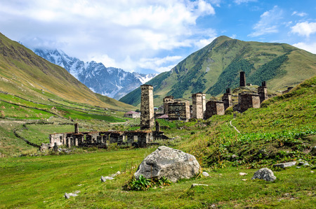 Murqmeli - one of four villages community called Ushguli in Upper Svanetia region, Georgia