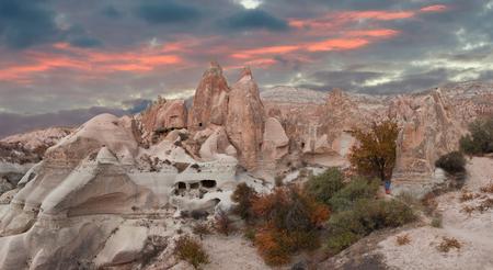 Rocks in the form of huge phalli in the valley of Love, Cappadocia, Turkey