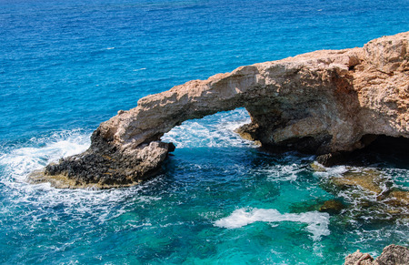The bridge of love or love bridge is located in one of most beautiful tourist attractions in Ayia Napa, Cyprus.