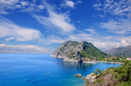 Seascape with islands. Mediterranean Sea Turkey. Stock Photo