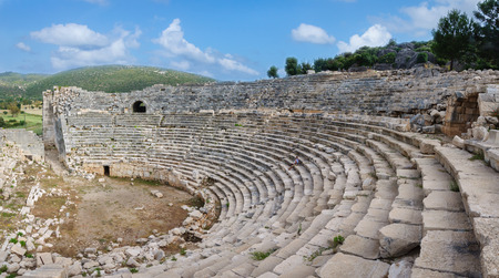 the ancient ruins of amphitheater in Patara, ancient Lycia