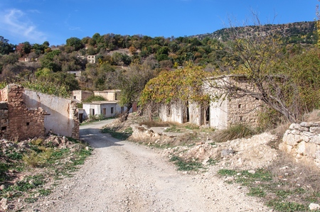 abandoned dead village Souskiou in Paphos District, Cyprus