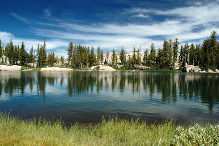 Summer Stratus Clouds over Chewing Gum Lake, Emigrant Wilderness, Sierra  Nevada Range
