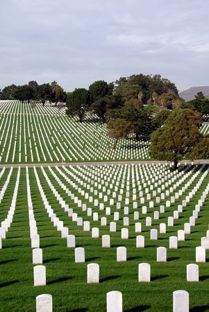 tree world tree service: United States National Cemetery Stock Photo