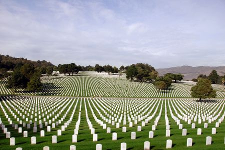 world war one: United States National Cemetery Stock Photo