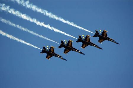 Blue Angels Fly In Tight Formation (redactioneel) Stockfoto