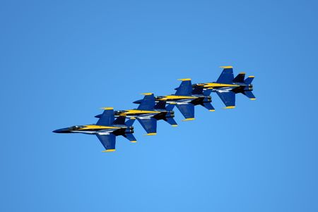 editorial: Blue Angels Fly In Tight Formation (editorial)