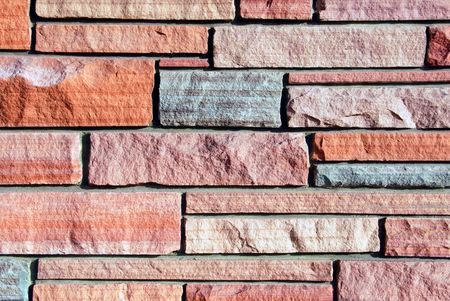 Background image of multi-colored sandstone wall. Stock Photo - 2423042