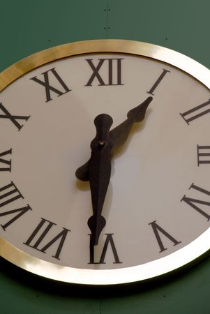 Cropping of Clock Face and Hands At One Thirty