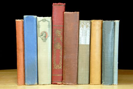 reading material: Colorful One Hundred Year Old Books