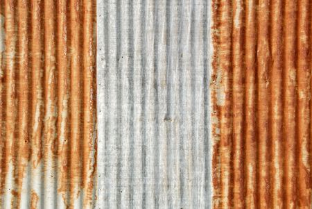 corrugation: Background of Well Worn Corrugated Iron Siding With Heavily Rusted Panels