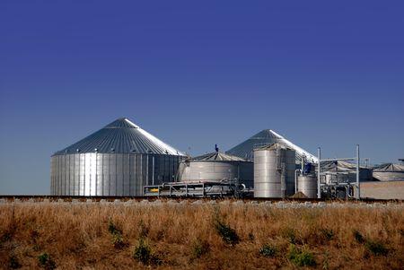 Nieuwe Ethanol Distilation Plantenziektekundig Under Construction Stockfoto