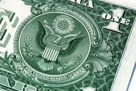 Great Seal of the United States on the reverse of a US Dollar Bill Stock Photo - 3420889