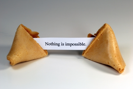 Fortune cookie with the expression: nothing is impossible.