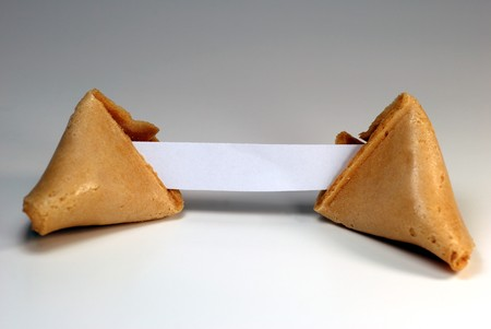 フォーチュン クッキー空白コピー スペース。