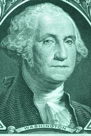 Dollar bill macro portrait of George Washington, from dollar bill Stock Photo - 4563277