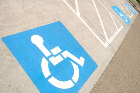 Disabled parking space indicators photo