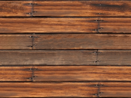 Weathered, aged, grungy, seamless wooden plank background, repeatable tile. Stock Photo