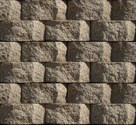 repeatable: Seamless pattern of stacked Cinder Block Wall, repeatable background tile.