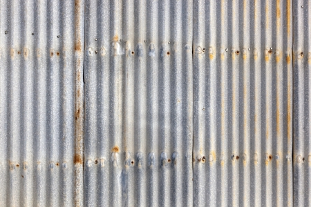 Rusted, galvanized, corrugated iron siding, vintage background