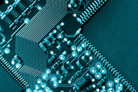 Macro of computer circuit board pattern.