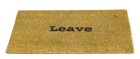 Leave Mat Stock Photo