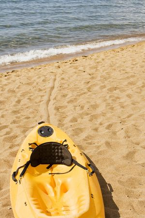 해변가에 카약