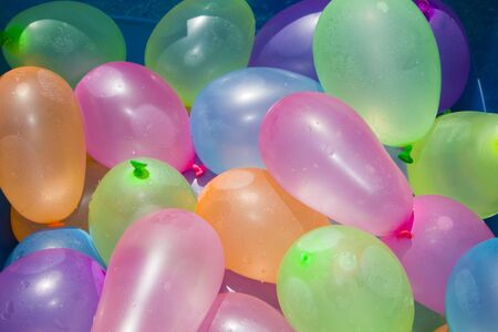 Filled Water Balloons Stock Photo