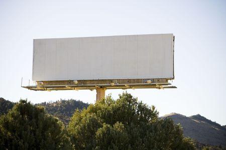 Blank Billboard Imagens