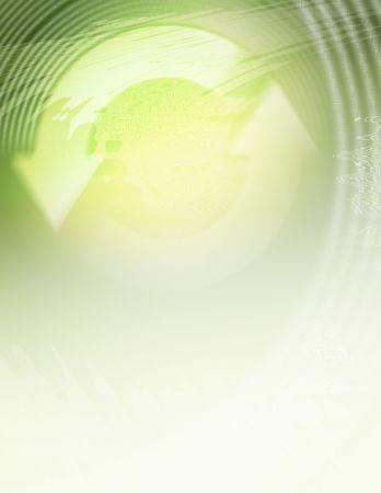 Background illustration using recycle symbol as theme. Stock Photo