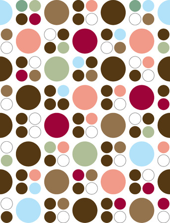Circle pattern with varying colors. Can be used as-is or as a seamless background.