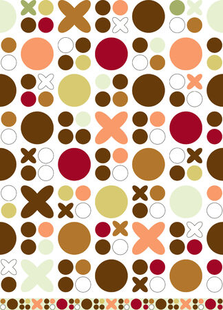 Vector retro-styled seamless background with matching trim strip.